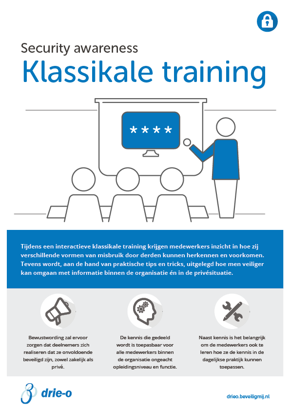Drie-O Automatisering | Security awareness training