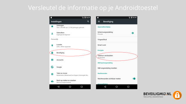 Privacyinstellingen Android smartphone en Android tablet