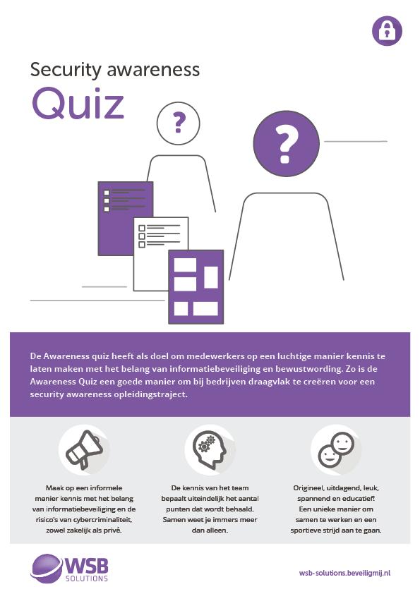 WSB Solutions | Security awareness Quiz